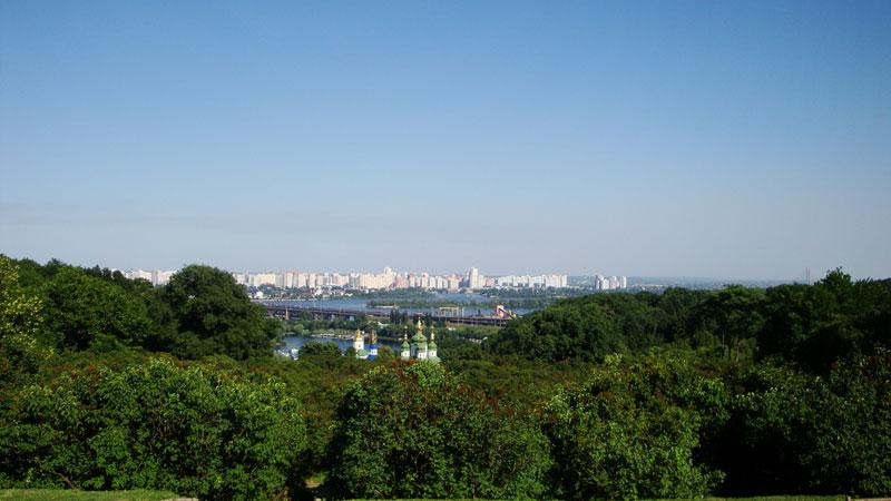 Вид на Левый берег и Выдубицкий монастырь