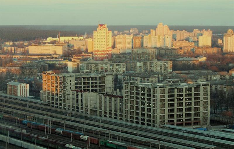 Вид с крыши Мега Сити