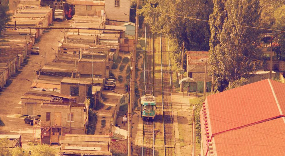 Трамвайная остановка напротив ТЭЦ