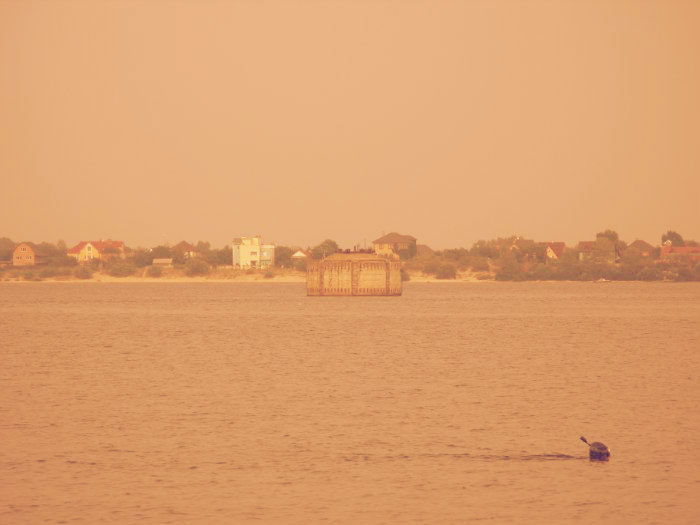 Вид на башню с берега