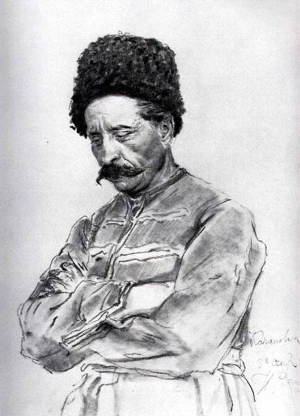 Василий Тарновский, рисунок Ильи Репина