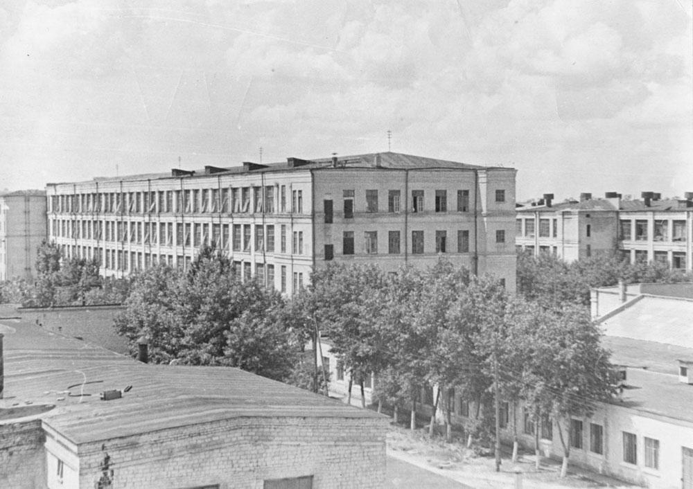 Корпус крутильного отделения. 1950-е годы