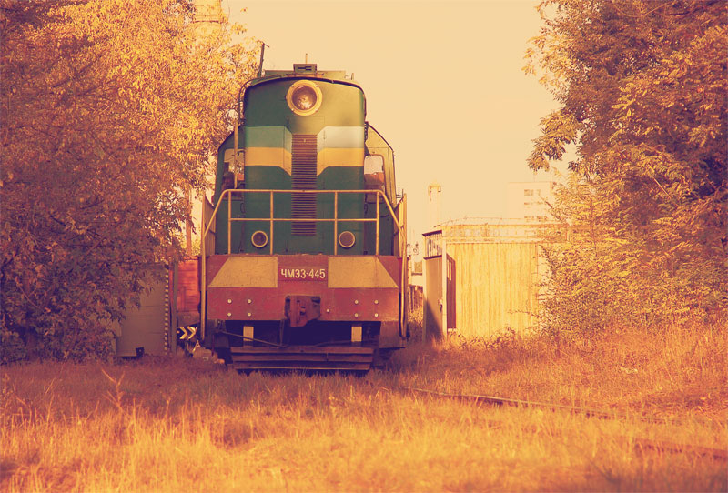 Поезд возле ж/д узла Лиски