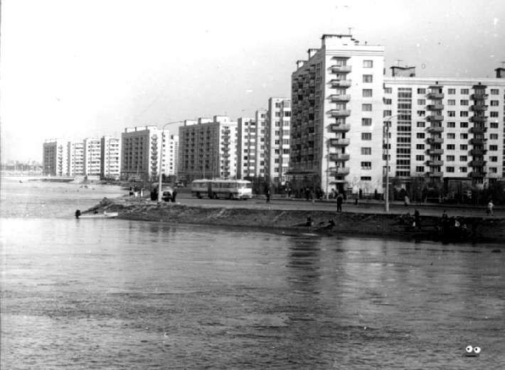 Русановка в 1970 году во время наводнения
