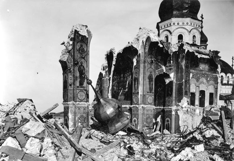Взорванный Успенский собор