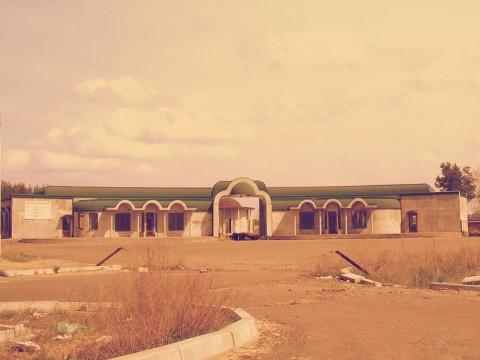 Общий вид на недостроенное кладбище домашних животных