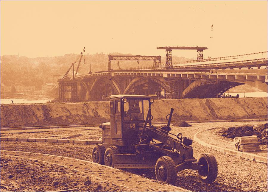 Строительство съезда на Гидропарке