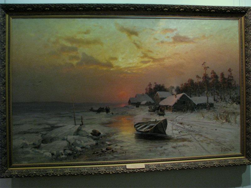 Подаренная музею картина
