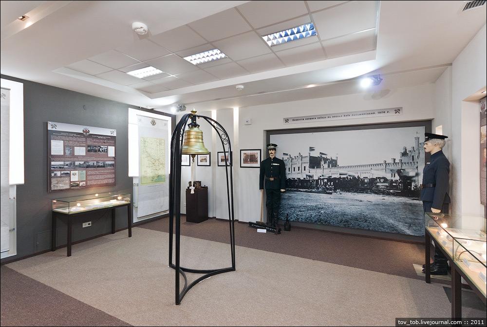 Первый зал музея ЮЗЖД