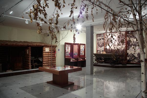 Внутри музея партизанской славы