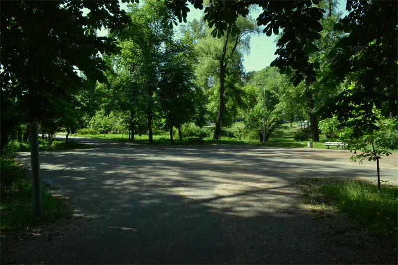 Посередине парка