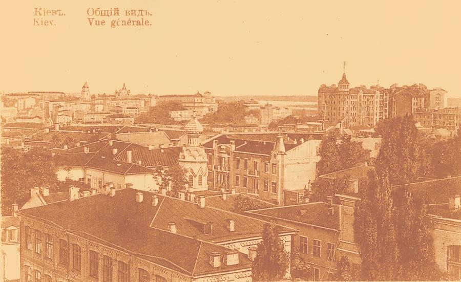 Панорама Киева, небоскреб справа