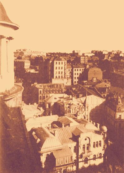 Вид на Киев с последнего этажа небоскреба