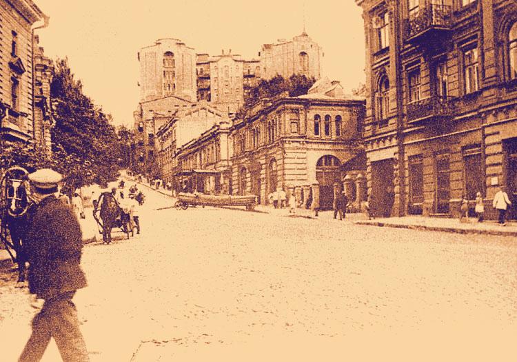Небоскреб, вид с улицы