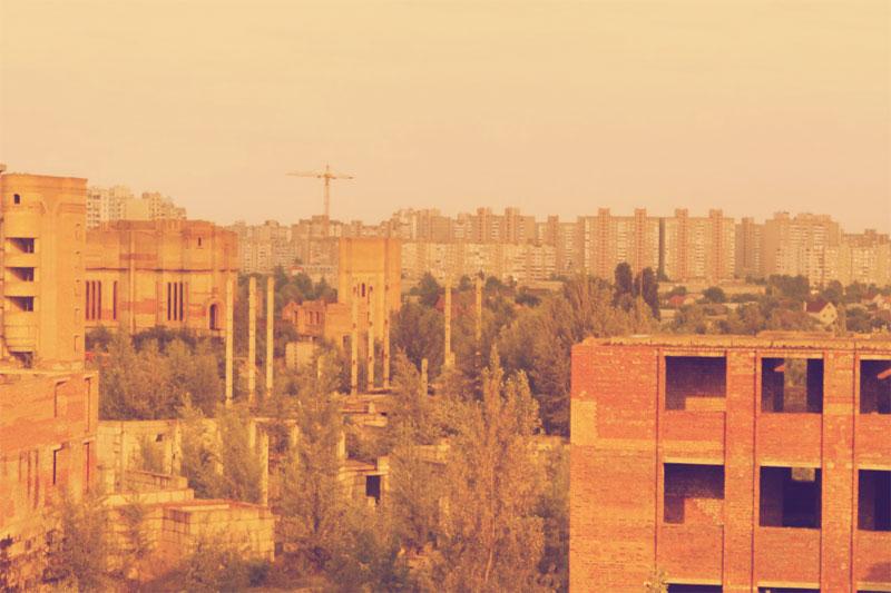 Вид с крыши на Троещину
