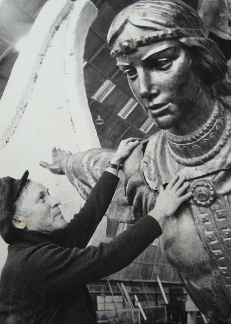 Создатель памятника Бородай и Лыбидь