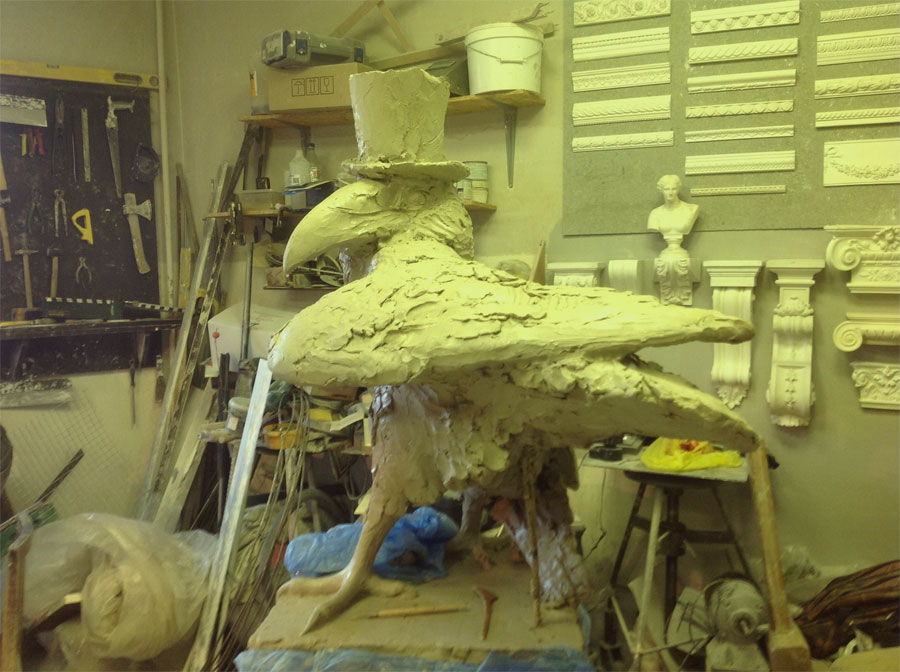 Памятник в процессе создания