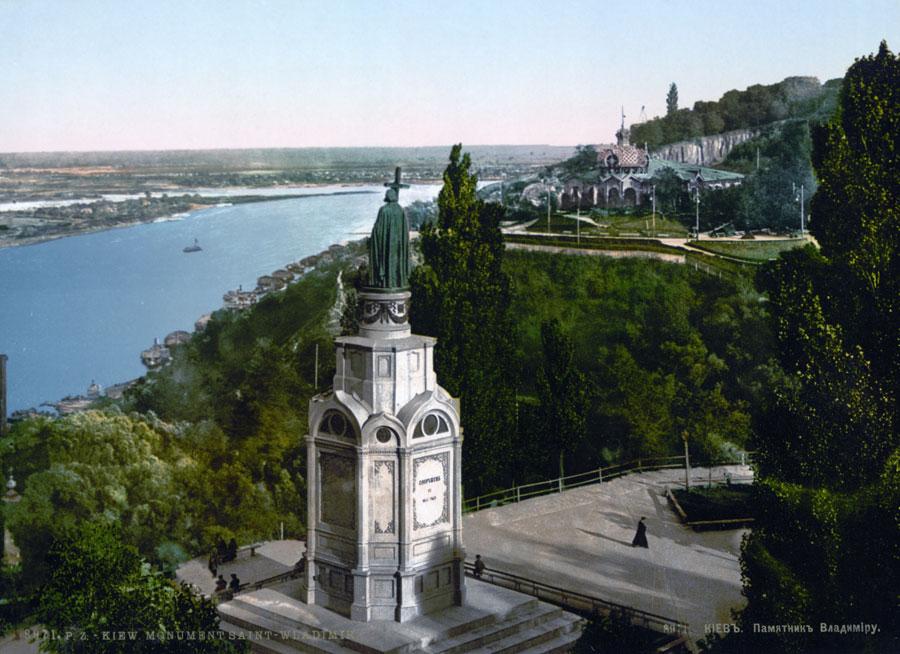 Памятник Владимиру Великому в 1900 году