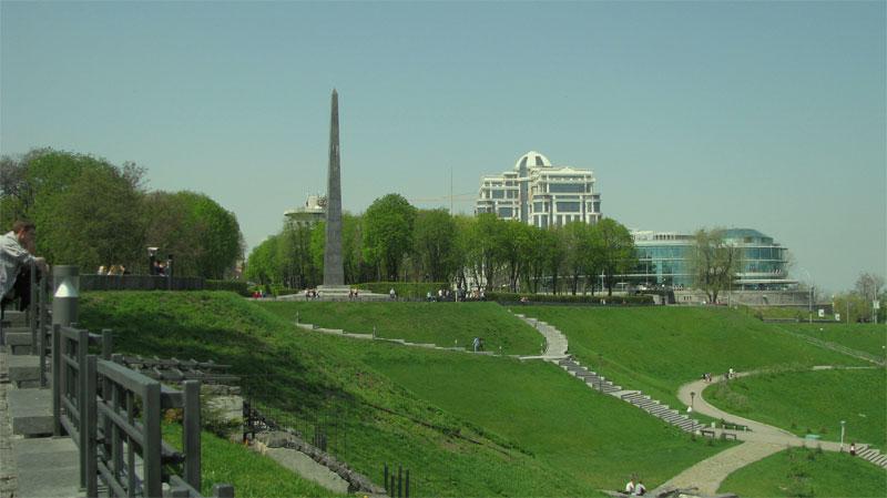 Смотровая площадка, мемориал и сам парк