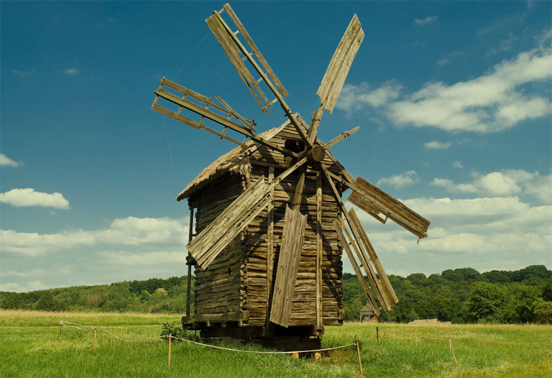 Романтично: ветряная мельница
