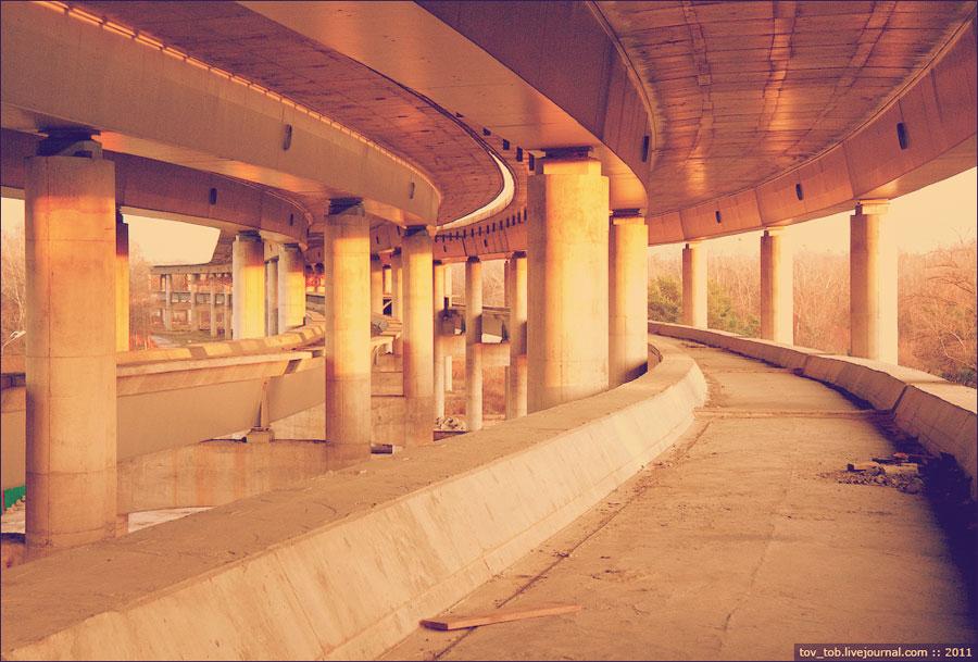 Метротрасса моста на Трухановом острове