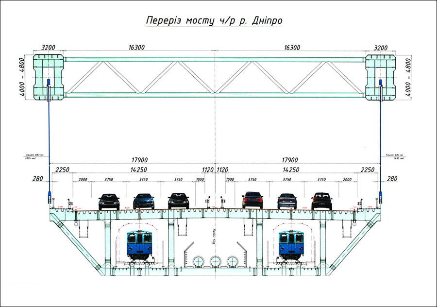 Схема моста в разрезе