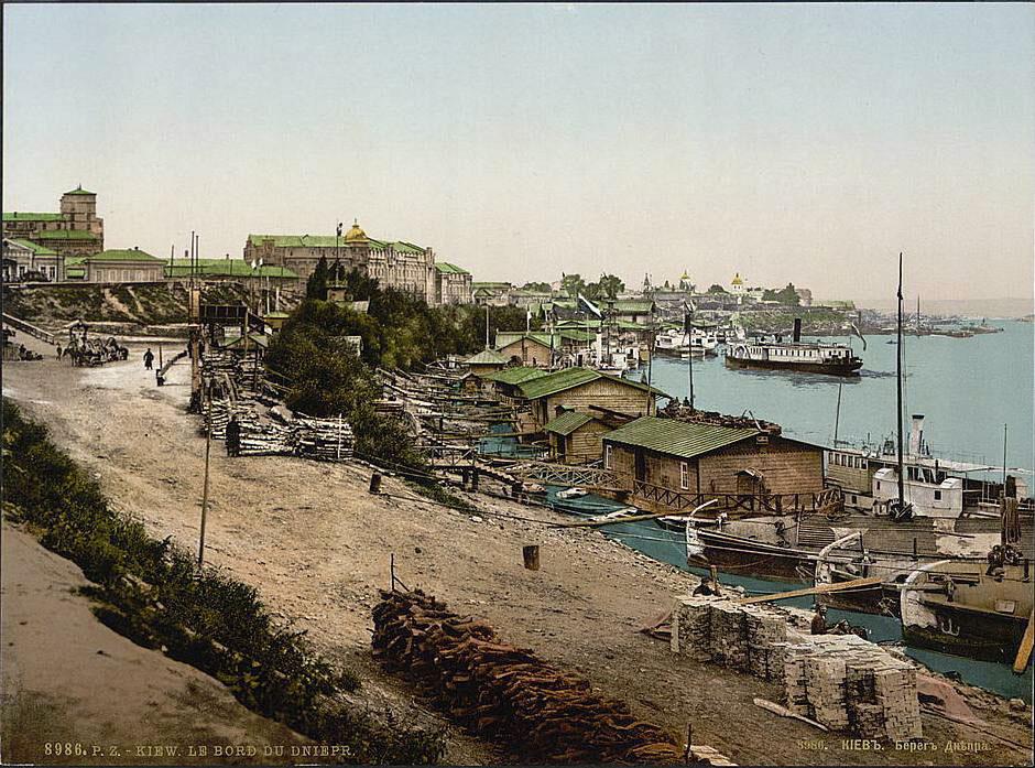 Речной порт в старину