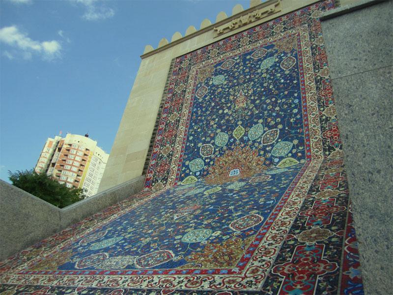 Мозаичный ковер вблизи