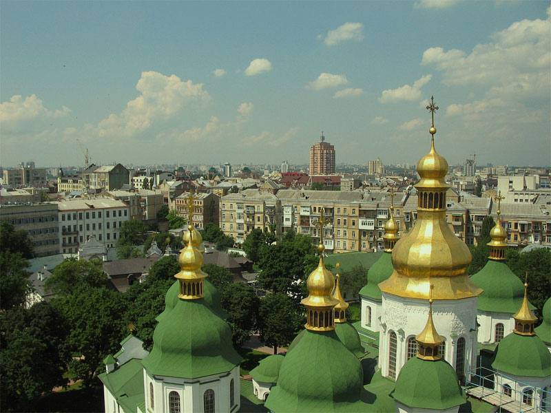 Панорама Киева из собора