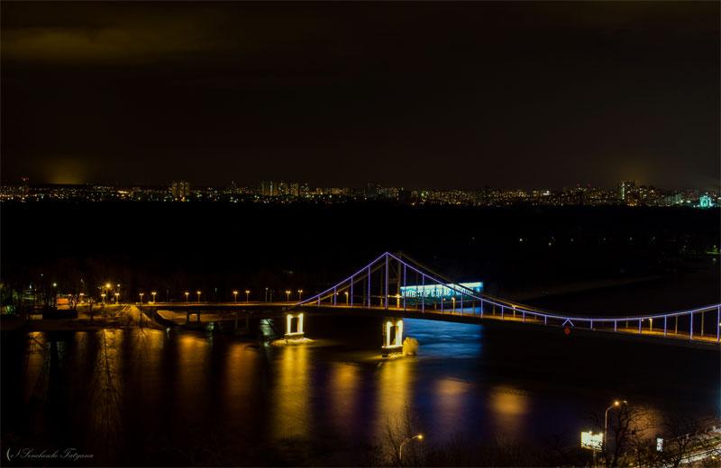 Парковый мост и левый берег