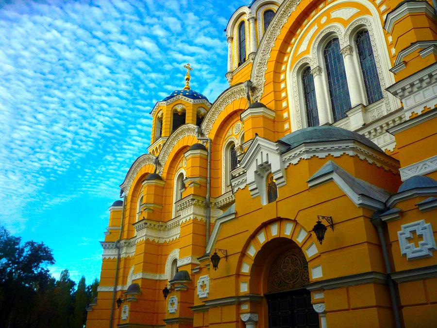 Владимирский собор на закате