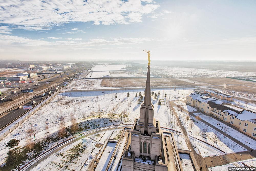 Храм мормонов, вид сверху