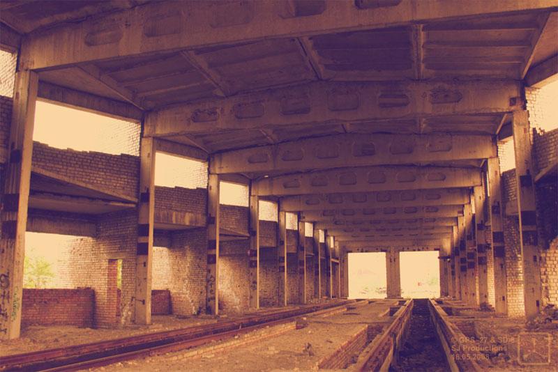 Трамвайное депо внутри