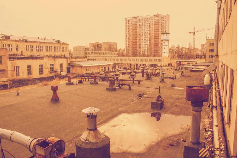 Вид из здания завода