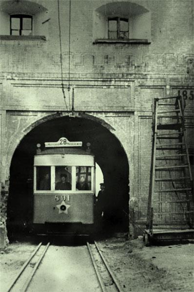 Тоннель в разобранном укреплении